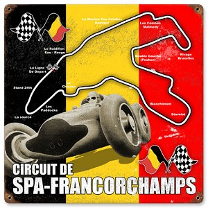 Spa-Francorchamps Vintage Metal Sign