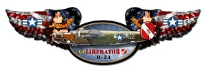 B-24 Liberator Winged Vintage Metal Sign