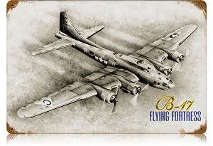 B-17 Flying Fortress Vintage Metal Sign