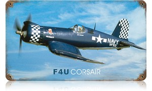 F4U Corsair Vintage Metal Sign