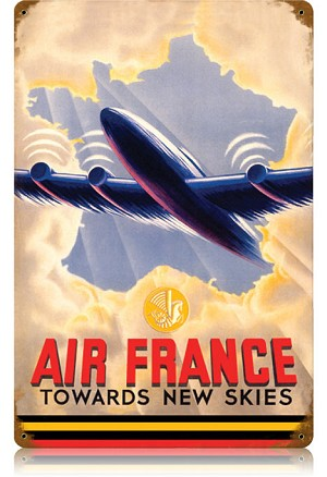 Air France Vintage Metal Sign