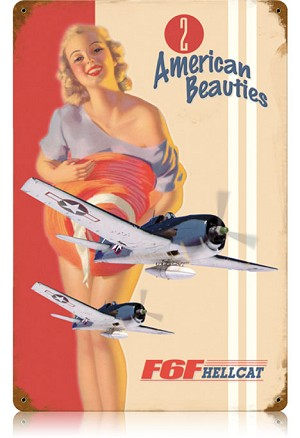 F6F Hellcat Vintage Metal Sign