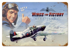 Wings For Victory Vintage Metal Sign