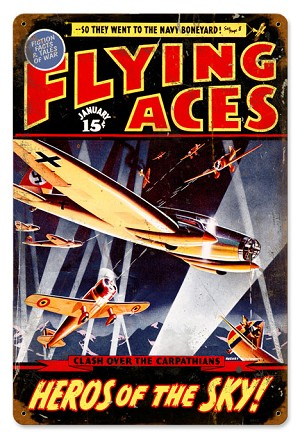 Flying Aces Vintage Metal Sign