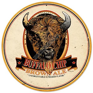 Buffalo Chip Brown Ale Metal Sign