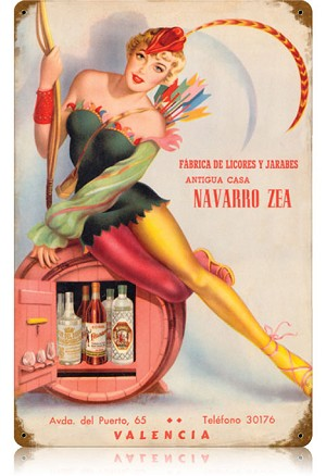 Navarro Zea Vintage Metal Sign