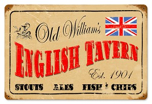 English Tavern Vintage Metal Sign