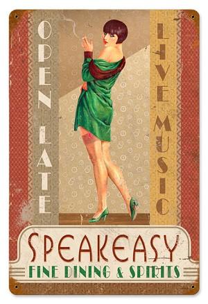 Speakeasy Vintage Metal Sign