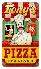 Pizza Italiano Vintage Metal Sign