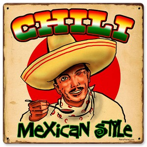 Chili Mexican Vintage Metal Sign