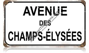 Champs Elysees Metal Street Sign
