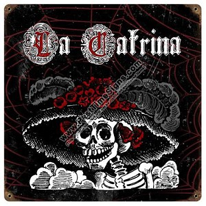 La Catrina Vintage Metal Sign