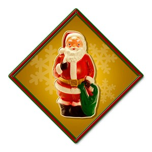 Santa Bag Metal Sign