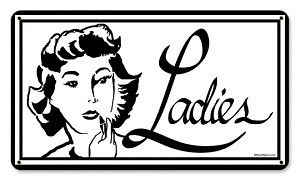 Ladies Room Vintage Metal Sign