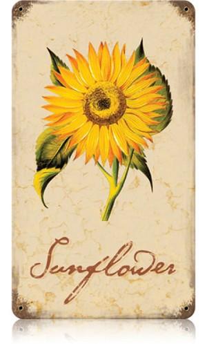 Sunflower Vintage Metal Sign