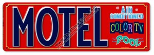 Motel Vintage Metal Sign
