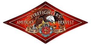 Fire Fighter Metal Sign