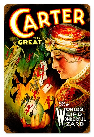 Carter the Great Vintage Metal Sign