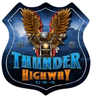 Thunder Highway Vintage Metal Sign