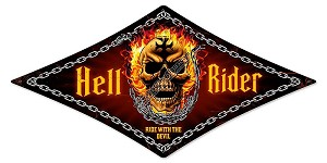 Hell Rider Metal Sign