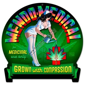Mendo Medical Marijuana Metal Sign