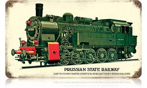 Prussian State Railway Vintage Metal Sign
