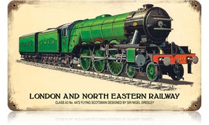 London and North Eastern Railway Vintage Metal Sign