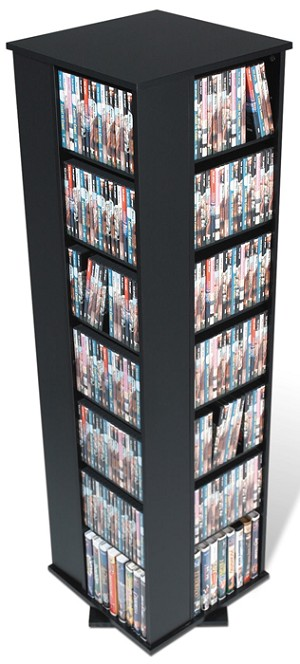 Black Large 4-sided Spinning Tower By Prepac