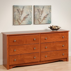 Cherry 6-drawer Dresser By Prepac