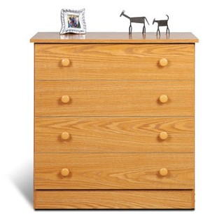 Oak 4-drawer Chest By Prepac