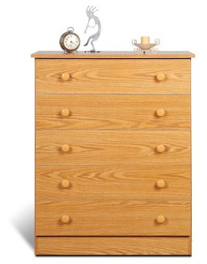 Oak 5-drawer Chest By Prepac