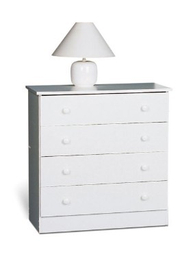White 4-drawer Chest By Prepac