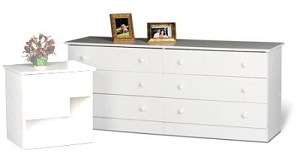 White 6-drawer Dresser By Prepac