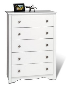 White 5-drawer Chest By Prepac