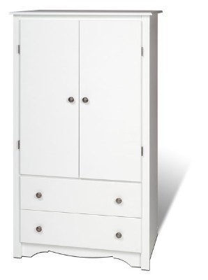 White 2-door Armoire By Prepac