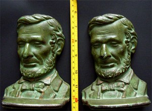 Abraham Lincoln Cast Iron Bookends - Set Of Two