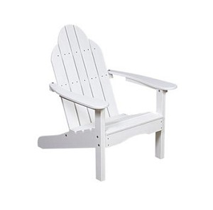 Adirondack Flat Back Polyresin Patio Chair
