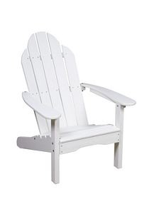 Adirondack Curved Back Polyresin Patio Chair