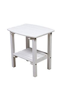 Polyresin Patio Side Table With Shelf