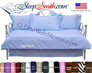 Solid Color Quick Ship Daybed Cover Set In 17 Colors And Patterns.