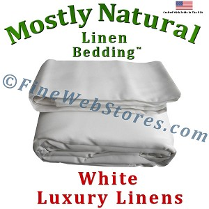 King Size White Bed Linen Sheet Set 300 Thread Count