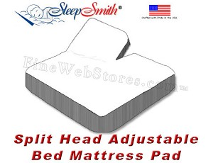 California King  Waterproof Mattress Pad For Split Head Adjustable Bed