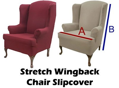 Wondrous Wingback Chair Stretch Cover Slipcover Waiting Room Chairs Pdpeps Interior Chair Design Pdpepsorg