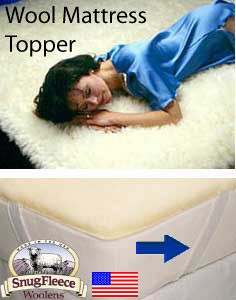Twin XL Size Wool Mattress Topper