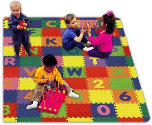 "8' 6"" X 9' 6"" Alpha Number Mat A-Z And 0-9 Play Area Set"