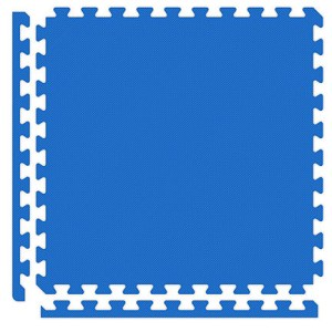 Royal Blue/Black Reversible Soft Floor Tile Kit