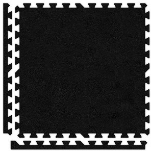 Black Soft Carpet Floor Discount Tile Kit