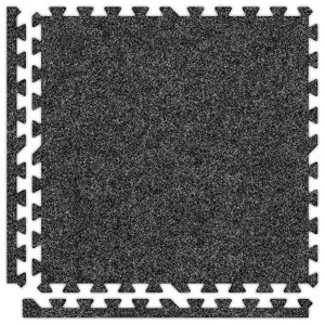 Dark Grey Soft Carpet Floor Discount Tile Kit