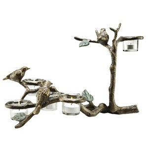 Birds And Branch Candle Holder