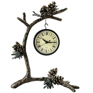 Pinecone And Branch Clock